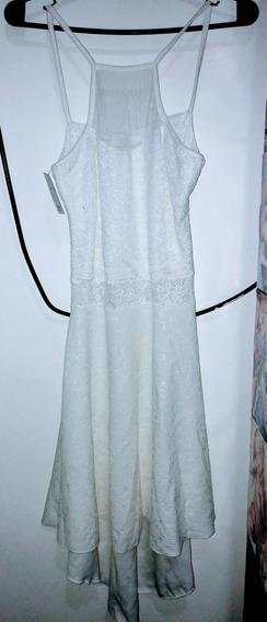 Vestido Blanco Fiesta Talle S/m