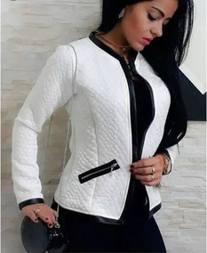 Kit 5 Jaquetas Casaco Blazer Fem Tecido Matelasse Cores