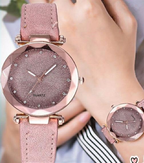 Relógio Feminino Rosa Original