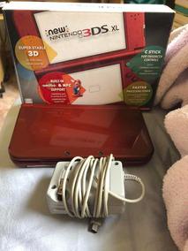 New Nintendo 3ds Xl Vermelho Caixa E Carregador Inclusos