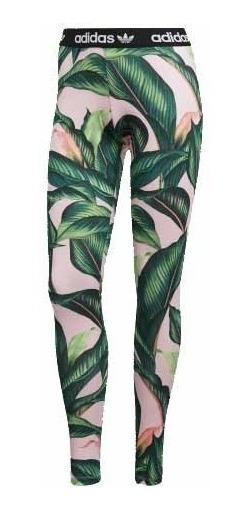 Calzas adidas Ori Estampada Rosa/verde Dama Deporfan