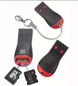 3 Mini Leitores Adaptadores Usb 2.0 Cartão Micro Sd Ou Sdhc