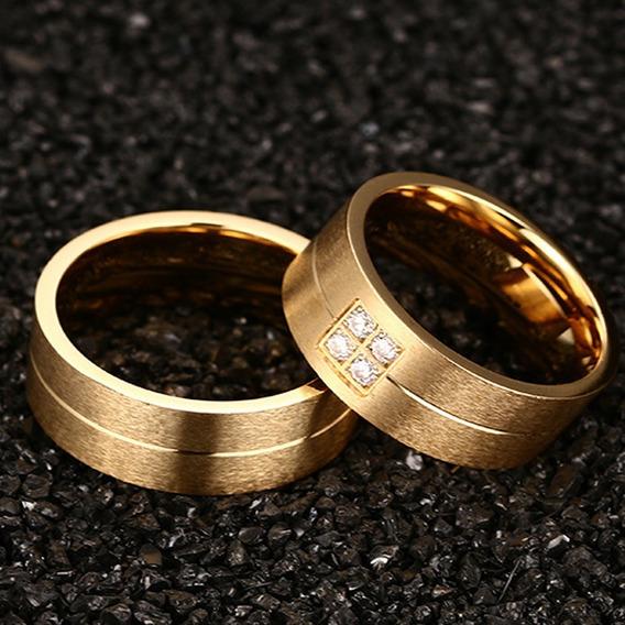 Par De Alianças Anéis De Noivado Compromisso Casamento