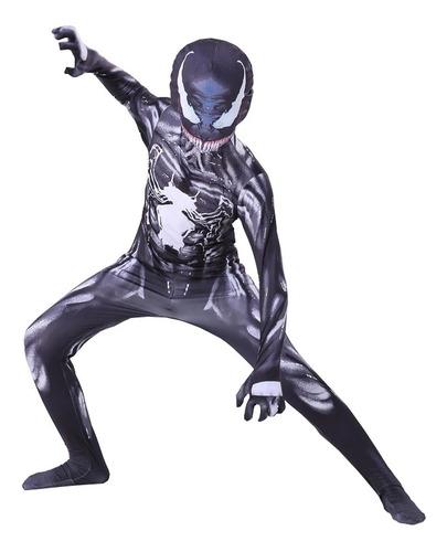 Imagen 1 de 4 de Disfraz Venom Spiderman Oscuro Capitán América Barman Avenge