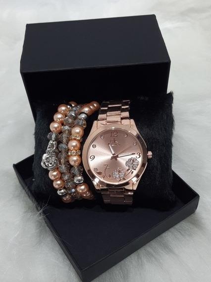 Relógio Feminino Digital Kit Com Pulseiras