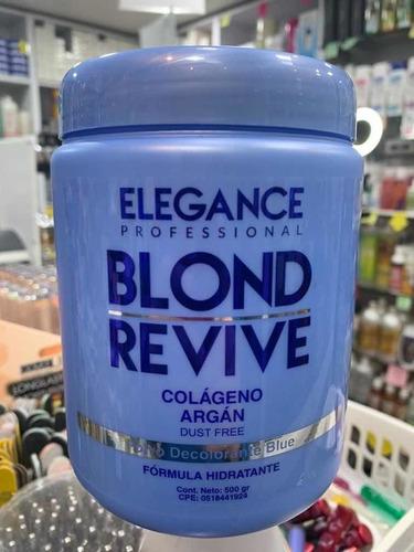 Decolorante Elegance Blond Revive Azul 500 Gr Aclara 9 Tonos