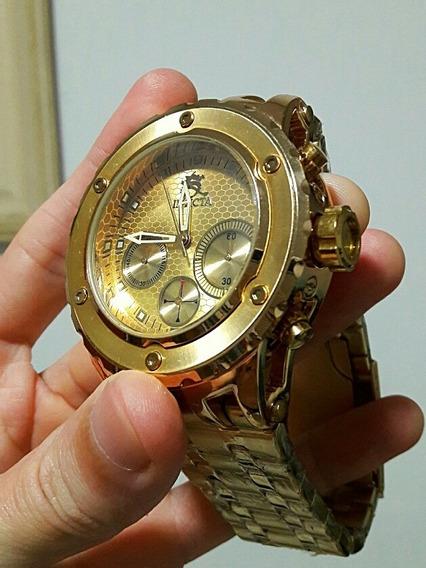 Relógio Masculino Dourado Pulso 100% Funcional Barato Metal