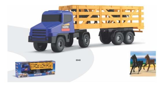Brinquedo Caminhão Horse Strada Com Cavalos - Silmar