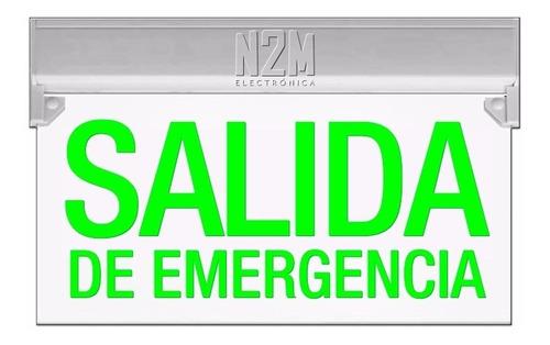 Cartel Led Salida De Emergencia 35x20 Bateria 220v Cuotas