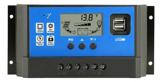 40a Controlador De Carga Solar Auto Pwm Controladores Lcd Co
