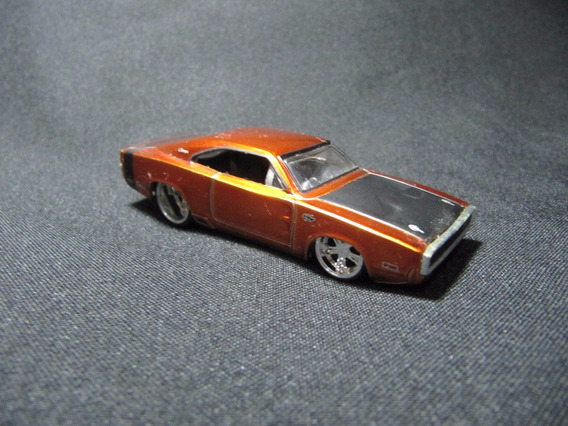Jada Toys - 1970 Dodge Charger R/t Laranja C/ Capô Preto