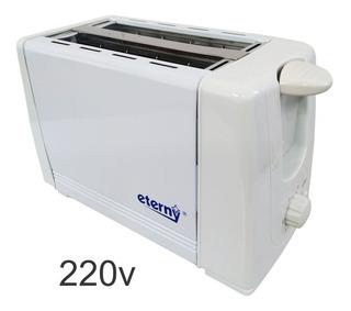 Torradeira Elétrica 2 Fatias Portátil Inox 220v Eterny Branc