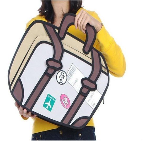 Bolso Cartera Diseño 2d 3d Cartoon Bag Handbag Importada 1