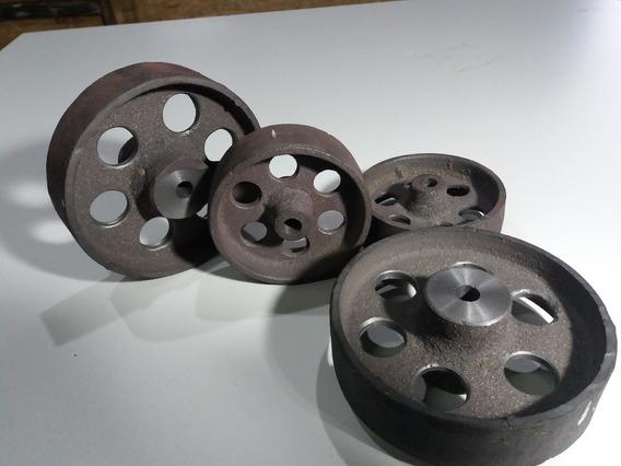 Ruedas Industriales Hierro De 7 Cm Y 9 Cm / 3cm De Pisada