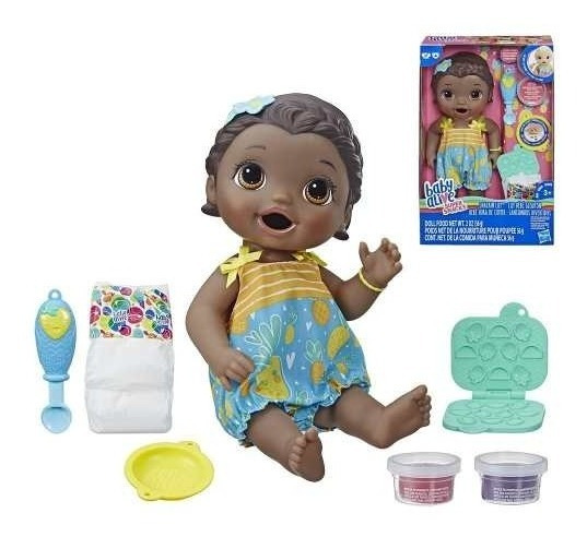 Boneca Baby Alive Lanchinho Divertido Negra E5839 Original