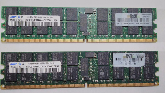 Memórias Servidor 4gb Pc2 6400p Ecc Reg Ddr2 800 Server
