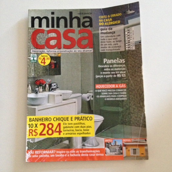 Revista Minha Casa N23 Mar2012 Banheiro Chique E Prático C2