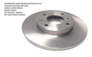 Disco Freno Delantero Peugeot 206 1400 247mm
