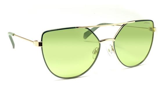 Óculos De Sol Polaroid Pld 6057/s Prata E Verde