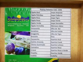 Coleção 34pedras Grandes+caixa De Madeira+apostila Promoçâo