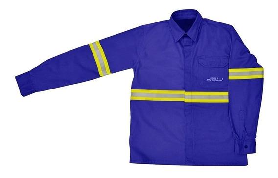 Camisa Brim Anti-chama Com Refletivo Nr10 Eletricista