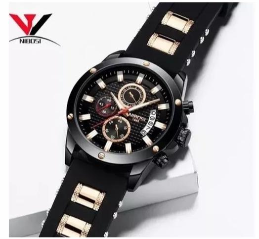Relógio Masculino Nibosi 2333 Funcional +chave +manual+caixa