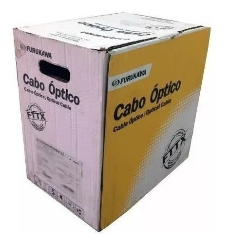 Cabo Drop Optico Fig.8 500mt Furukawa Fibra Optica Novo