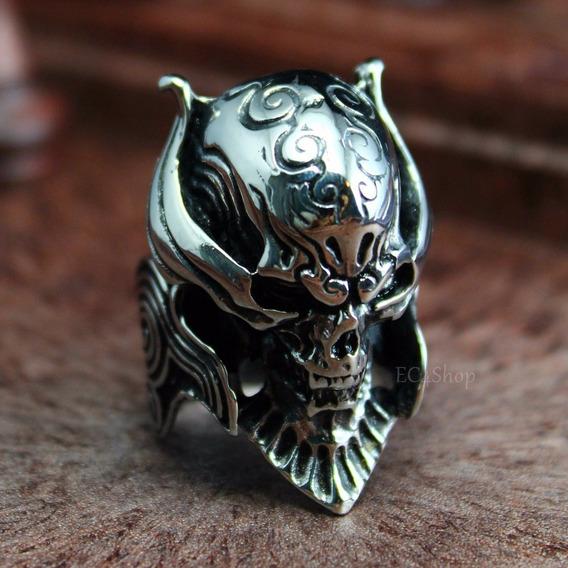 Anel Crânio Templário Ou Motorhead - Lemmy Promooção Aço!