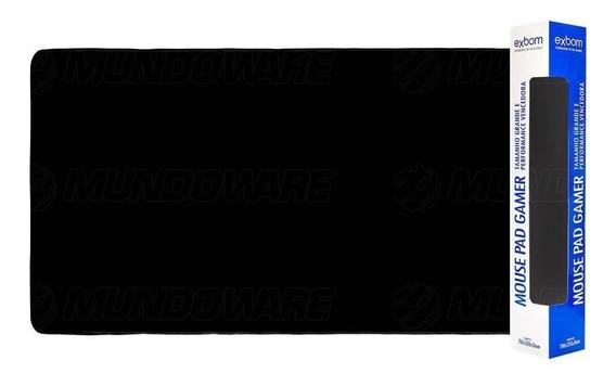 Mouse Pad Gamer Barato Gigante 70x35 Borda Costurada Preto