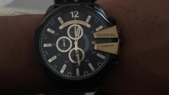 Relógio Masculino Diesel Original -preto Com Dourado 500,00