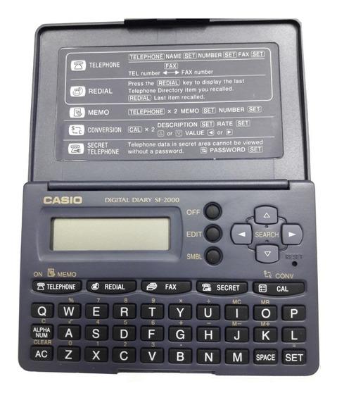 Agenda Electronica De Bolsillo Casio Sf-2000w 1600 Bytes