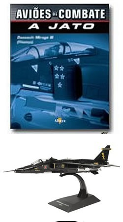 Avioes Combate Jato Sapecat Jaguar Negro Gr3 1/72 C/ Revista