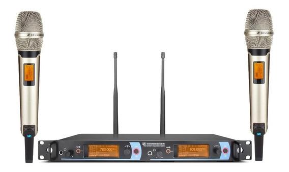 Microfone S/fio Digital Uhf Duplo Sennheiser Em2050 Skm2000