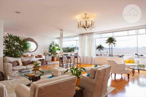 Imagem 1 de 24 de Excelente Apartamento De 4 Quartos À Venda Na Avenida Atlântica, Copacabana, De Frente Para O Mar - Ap0030