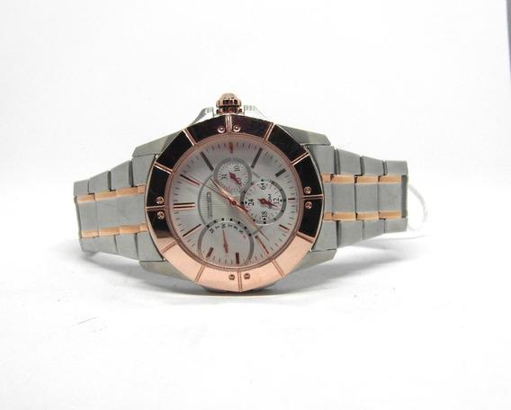 Reloj Seiko Caballero Bitono, Acero, Gmt, Nuevo, Oferta Wow!