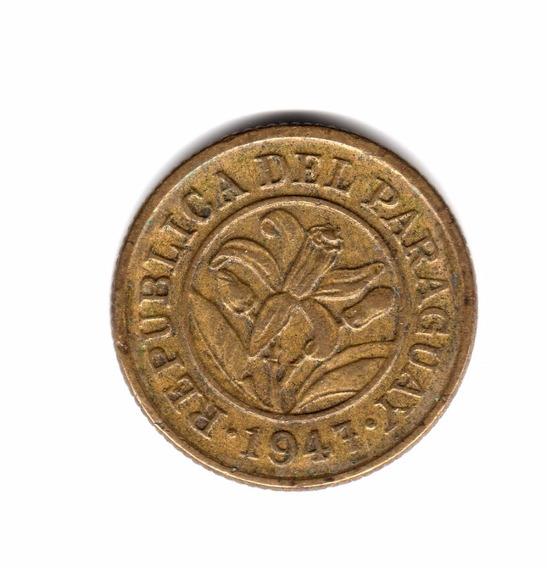 Moneda Paraguay 10 Centimos 1947 Km#22