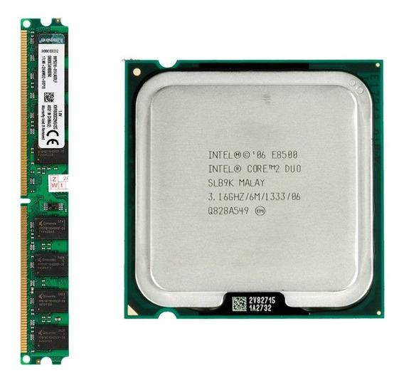 Processador Core 2 Duo E8500 + 2gb Memorias Kingston 800mhz