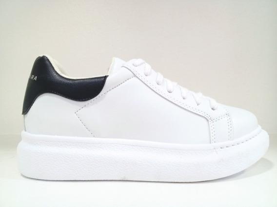 Zapatillas Urbanas Clasicas Con Plataforma Blanca