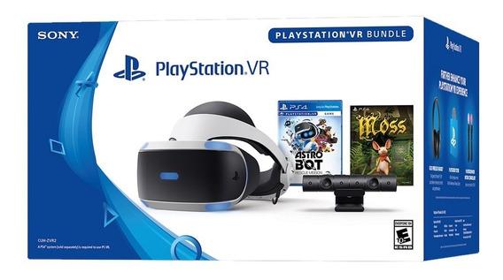 Óculos De Realidade Virtual Sony Ps4 Playstation Vr