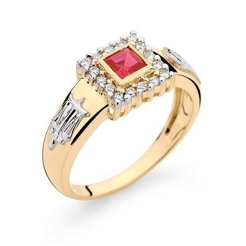 Anel De Formatura Em Ouro Amarelo 18k Pedra/diamantes Natura