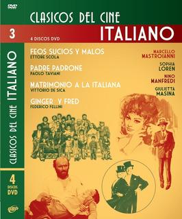 Pack Coleccion 4 Dvd Cine Italiano Fellini - Scola - Taviani