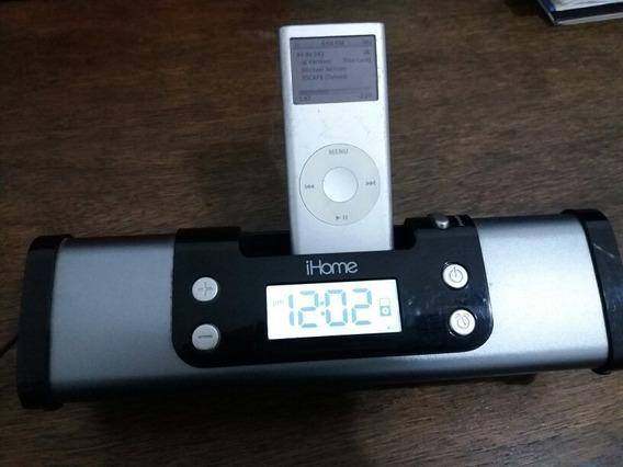 iPod Antigo 2g Com Caixas De Som Ihome, Som Bom E Alto.