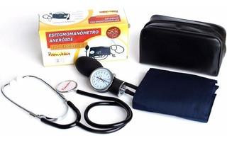 Kit Enfermagem Aparelho De Pressao Com Esteto Premium