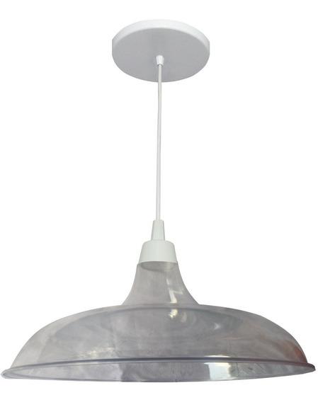 Pendente Prato Transparente 32cm - Utron
