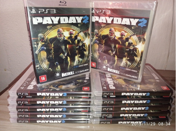 12 Jogos Pay Day 2 Ps3 Lacrados