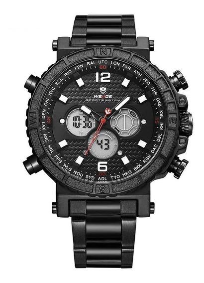 Relógio Masculino Weide Anadigi Wh6305 - Preto Original