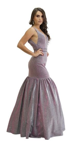 Vestido Largo Fiesta Tg 7012s9 Corte Sirena