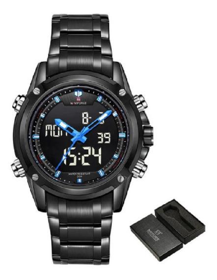 Relógio Masculino De Pulso Naviforce 9050 Premium C/ Caixa