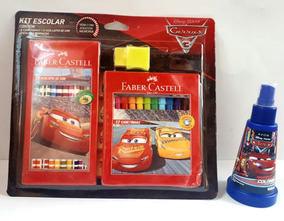 Kit Colonia Carros Disney+kit Escolar Cars Disney Canetinhas