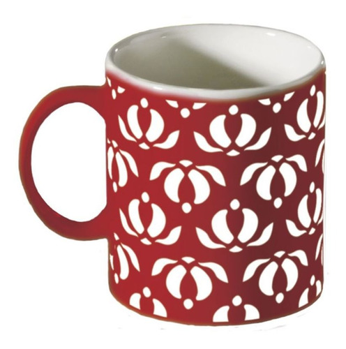 Mug 310ml Étnicos Rojo